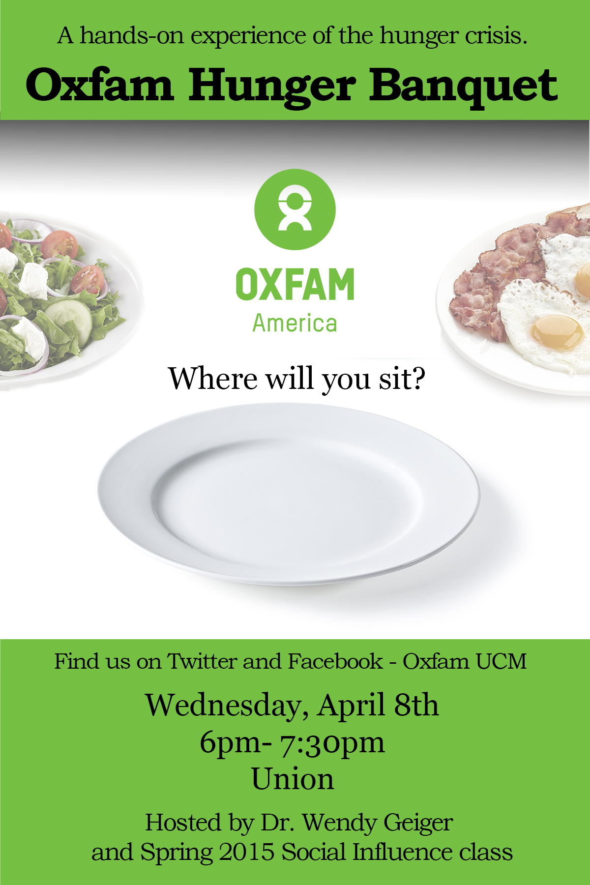 Oxfam banquet coming to UCM