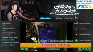 (Photo submitted) Kongphan raised more than 400% more than his goal for the Great Strides charity.