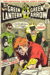 This controversial cover by Adams depicts Speedy, Green Arrow's sidekick, using heroin.