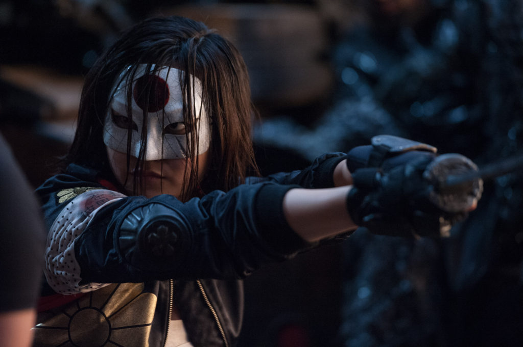 "Karen Fukuhara as Katana in Warner Bros. Pictures' action adventure ""Suicide Squad,"" a Warner Bros. Pictures release. Photo Credit: Clay Enos/ TM & (c) DC Comics© 2016 WARNER BROS. ENTERTAINMENT INC. AND RATPAC-DUNE ENTERTAINMENT LLC"