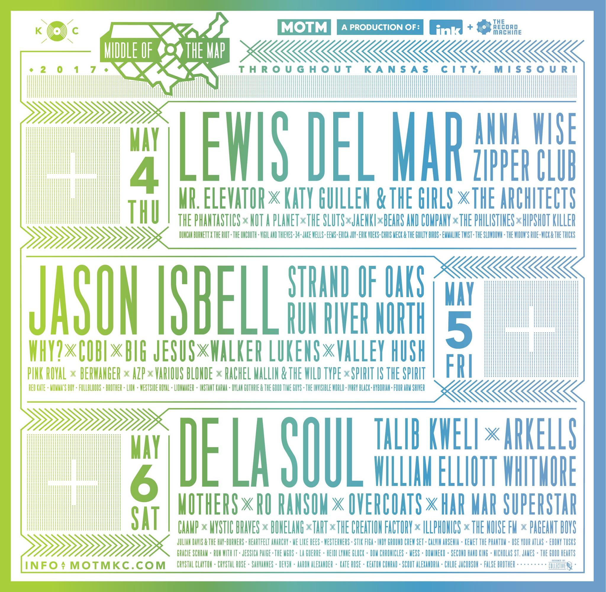 Middle of the Map Fest 2017 lineup announced, featuring De La Soul, Jason Isbell & Lewis Del Mar