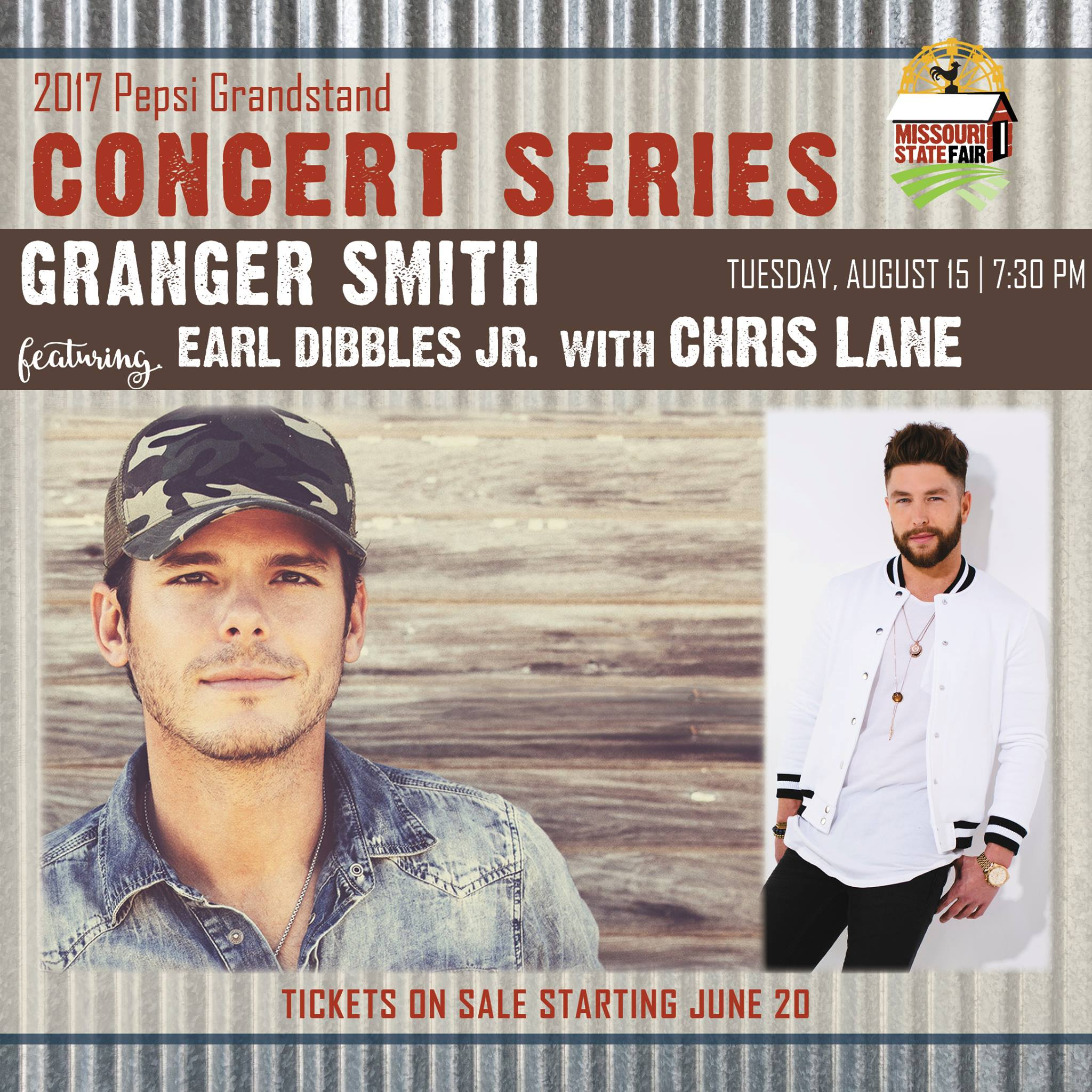 Granger Smith to perform at Missouri State Fair