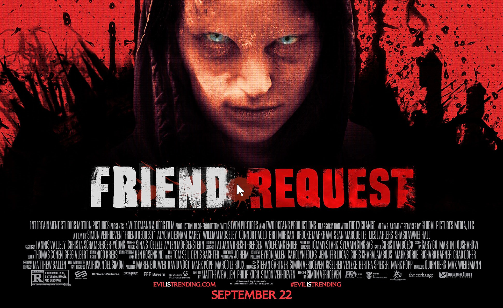 With laughable dialogue and ankle-deep message, 'Friend Request' misses its mark