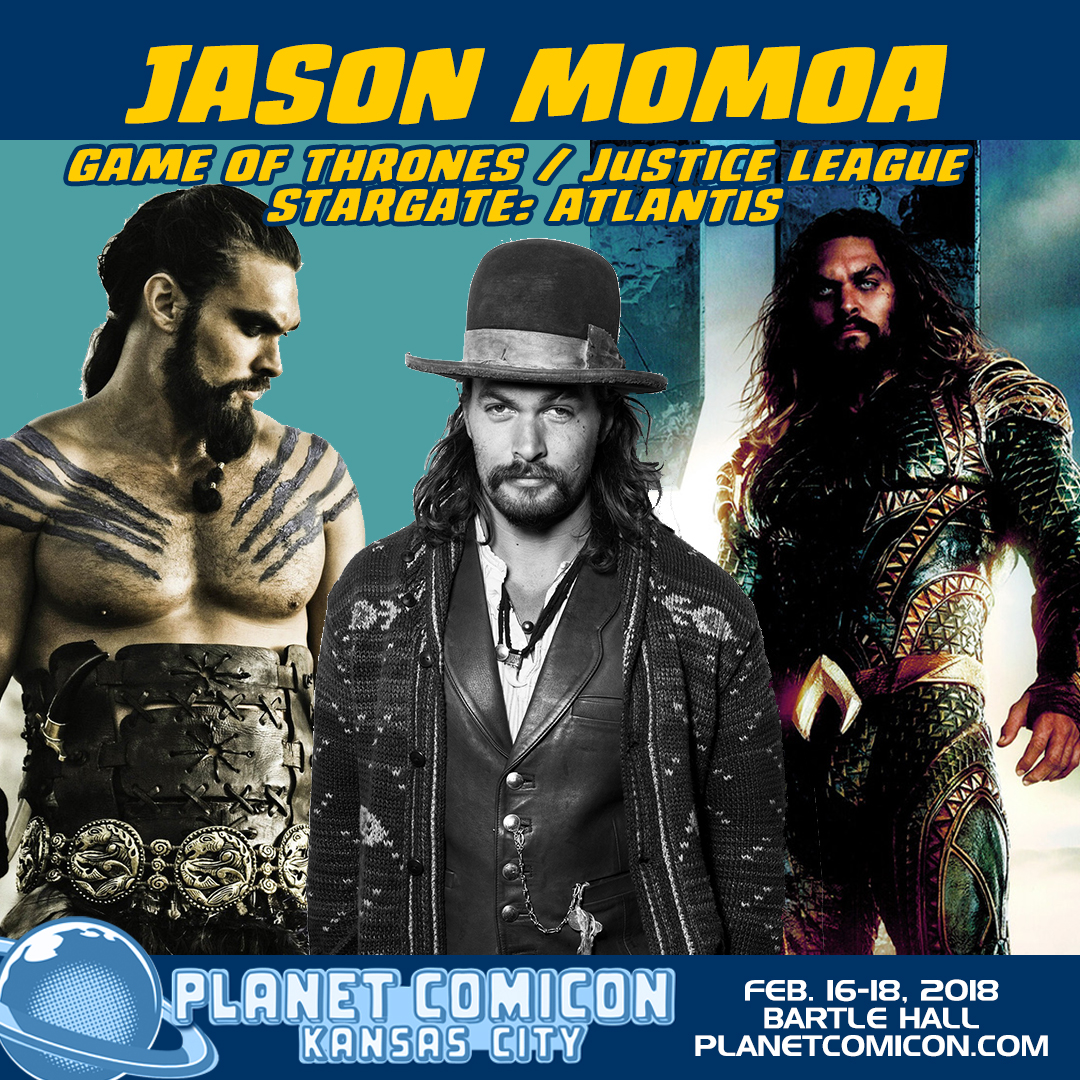 Aquaman star Jason Momoa announced for Planet Comicon 2018