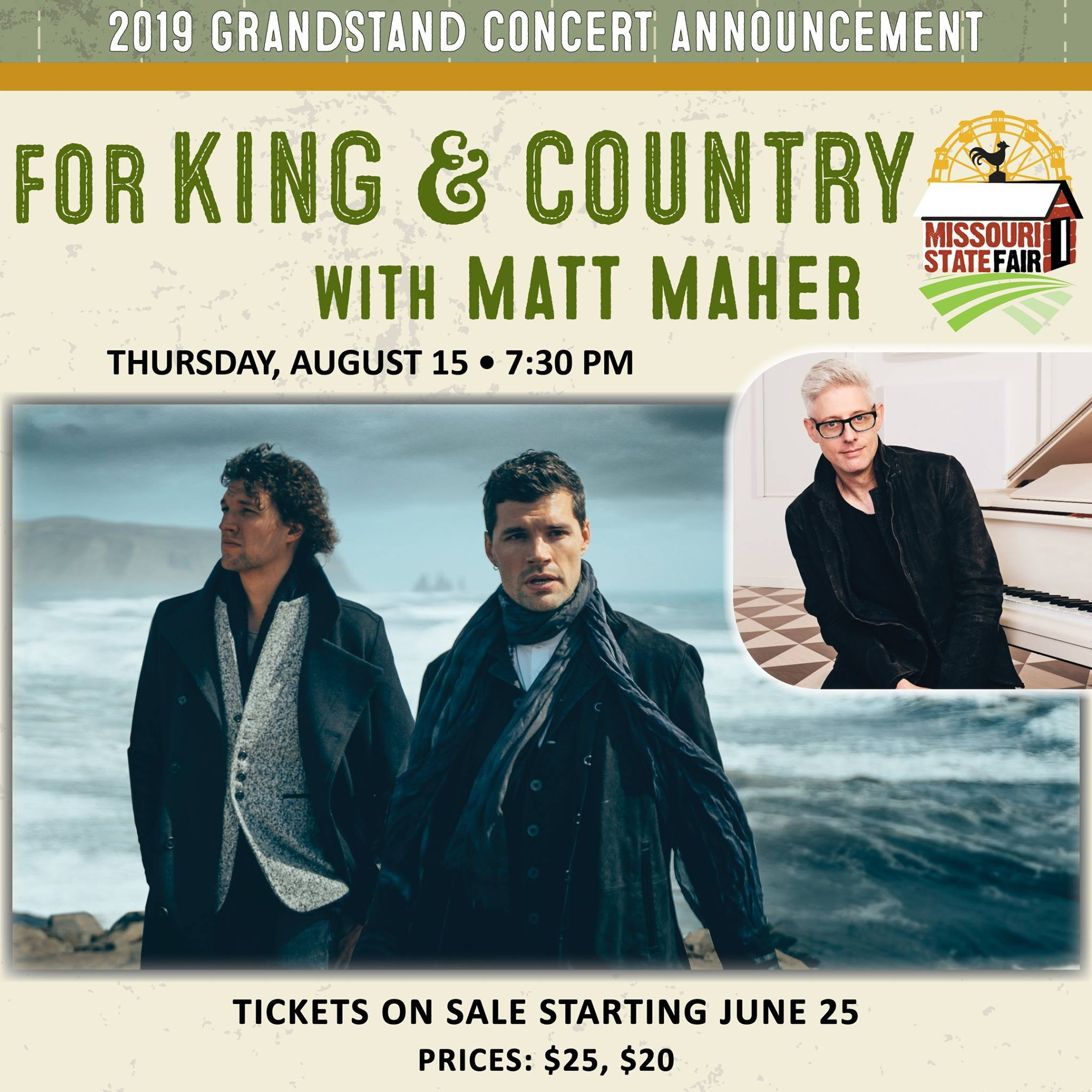 Missouri State Fair adds For King & Country, Matt Maher