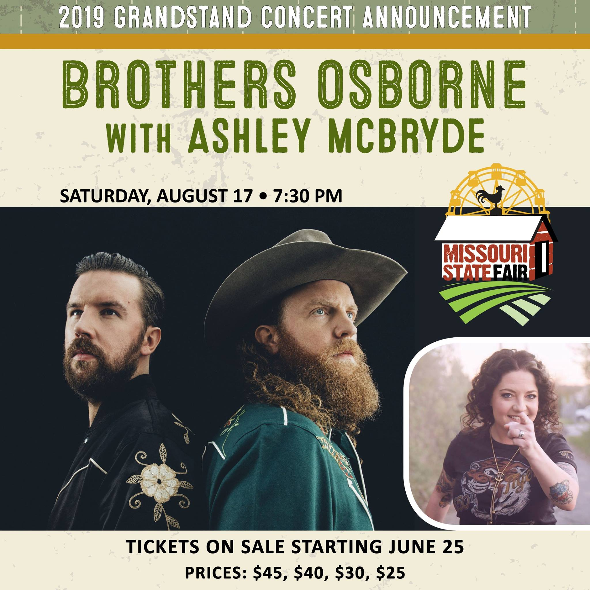 Brothers Osborne and Ashley McBryde coming to Missouri State Fair