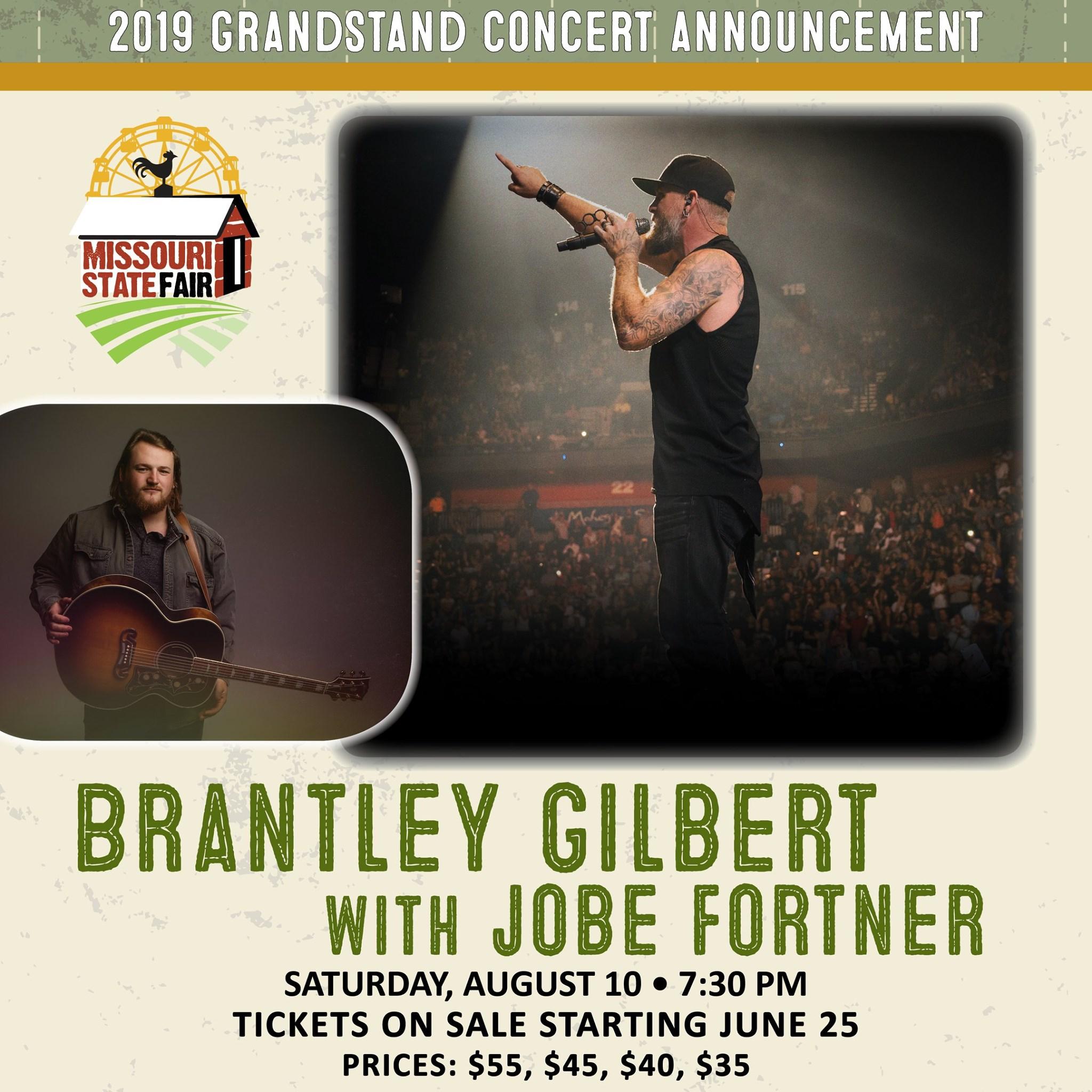 Missouri State Fair announces last three concerts: Brantley Gilbert, Dwight Yoakam, The Struts