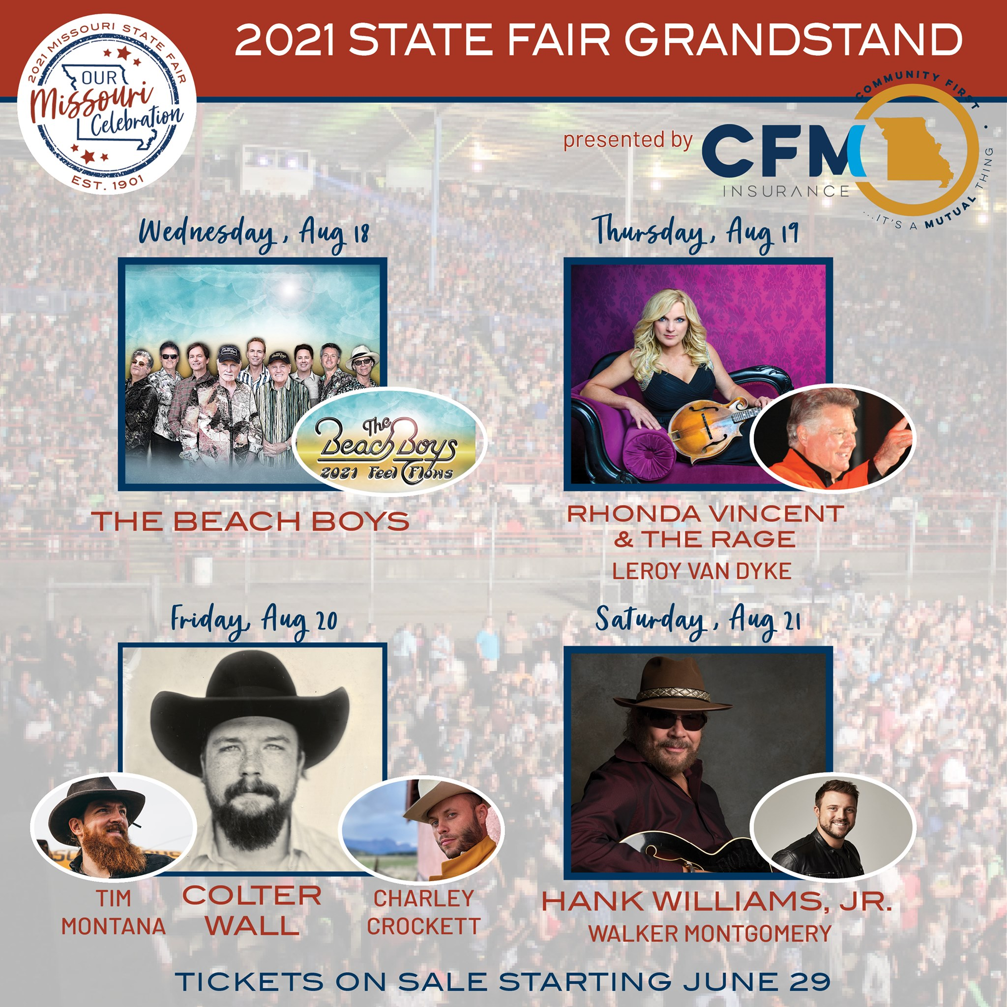 MSF announces final four concerts, Hank Jr., Colter Wall to headline